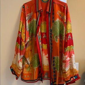 Vintage Versace silk shirt special Miami edition